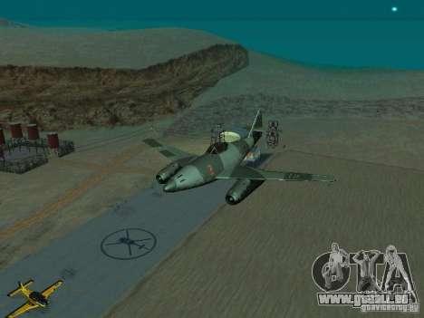 Messerschmitt Me262 für GTA San Andreas Rückansicht