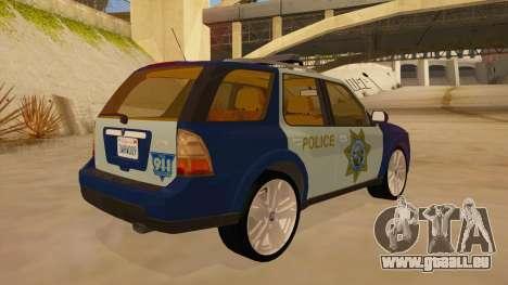Saab 9-7X Police pour GTA San Andreas vue de droite