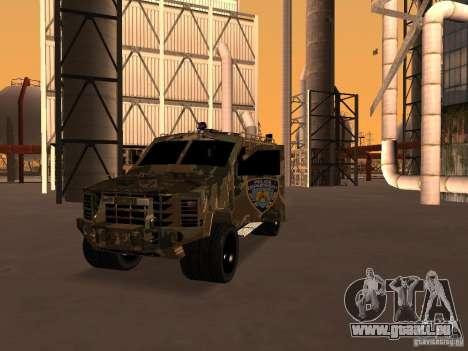 Lenco Bearcat NYPD für GTA San Andreas Rückansicht