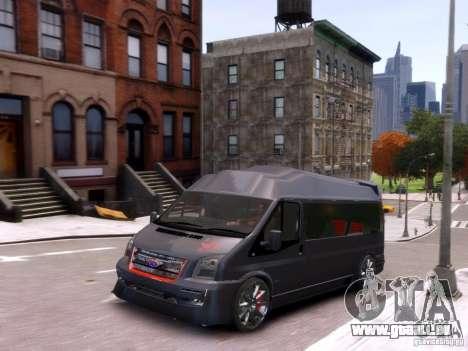 Ford Transit Sport Edition RV 2013 pour GTA 4 est une vue de l'intérieur
