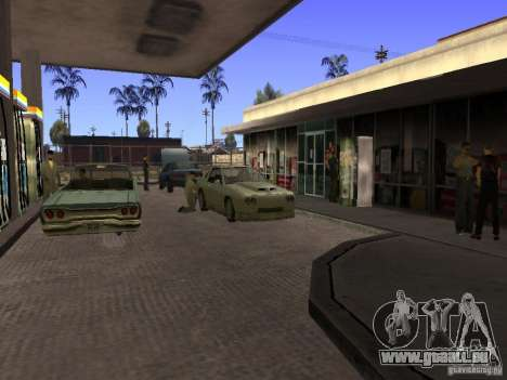 Beschäftigt Tankstelle in Los Santos für GTA San Andreas