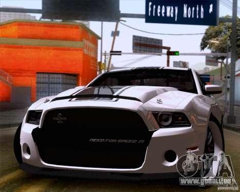 Ford Shelby GT500 Super Snake pour GTA San Andreas sur la vue arrière gauche