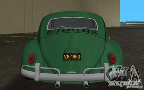 Volkswagen Beetle 1963 für GTA Vice City obere Ansicht