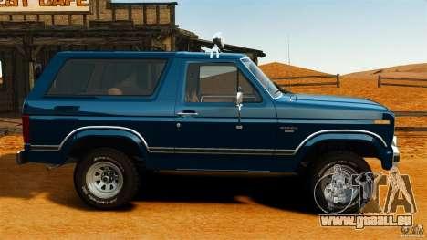 Ford Bronco 1980 für GTA 4 linke Ansicht