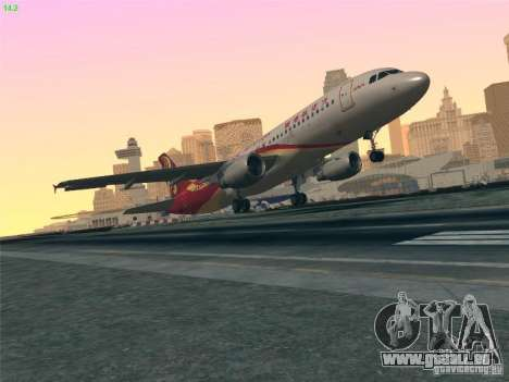Airbus A320-214 Hong Kong Airlines für GTA San Andreas obere Ansicht