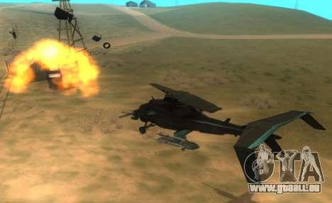 RQ-50 Hammerhead pour GTA San Andreas vue intérieure