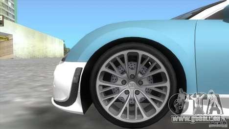 Bugatti ExtremeVeyron pour une vue GTA Vice City de la droite
