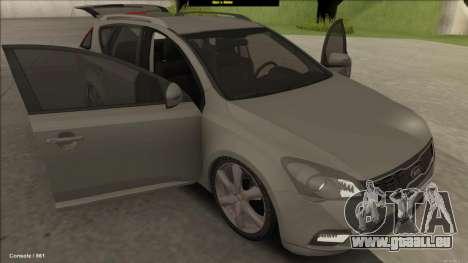 Kia Ceed SW pour GTA San Andreas vue arrière