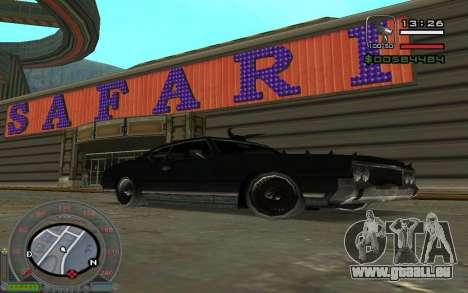 New Sabre pour GTA San Andreas vue de droite