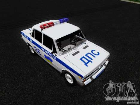 VAZ 2106 Police pour GTA San Andreas vue de droite
