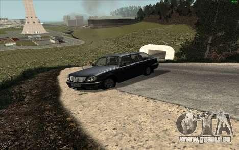 GAZ Wolga 31104 für GTA San Andreas zurück linke Ansicht