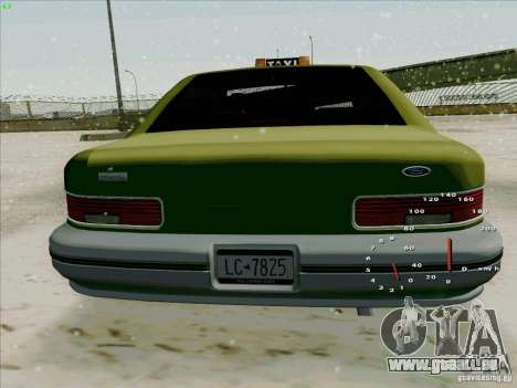 SA Taxi HD de GTA 3 pour GTA San Andreas vue de droite
