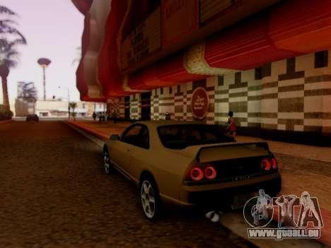 Nissan Skyline ECR33 pour GTA San Andreas vue arrière