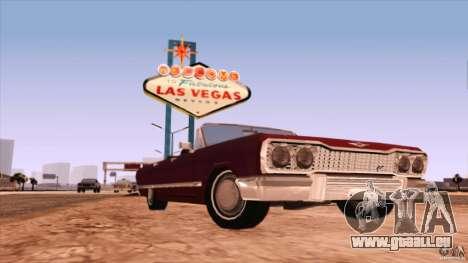 Savanna Detroit 1965 pour GTA San Andreas laissé vue