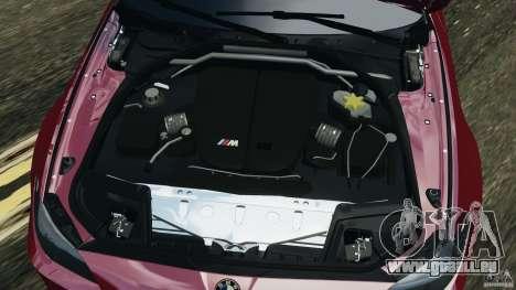 BMW M5 2012 pour GTA 4 vue de dessus