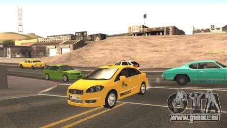 Fiat Linea Taxi pour GTA San Andreas laissé vue