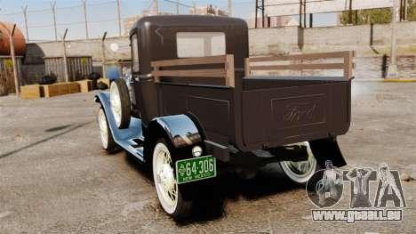 Ford Model T Truck 1927 für GTA 4 hinten links Ansicht