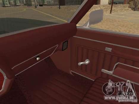 1970 Chevrolet Monte Carlo pour GTA San Andreas vue de dessous
