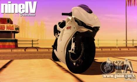 Ducati Desmosedici RR 2012 pour GTA San Andreas laissé vue