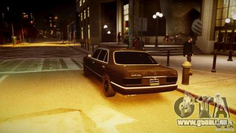 Mercedes-Benz 560 SEL Black Edition für GTA 4 linke Ansicht
