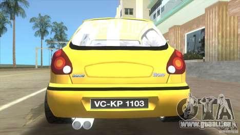 Fiat Bravo pour GTA Vice City sur la vue arrière gauche