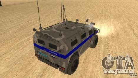 GAZ-23034 RID-1 Tiger pour GTA San Andreas vue de droite