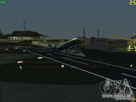 Boeing 767-300 AeroSvit Ukrainian Airlines für GTA San Andreas Rückansicht