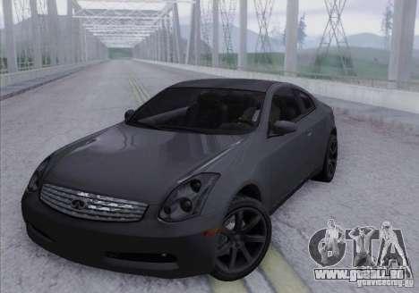 Infiniti G35 für GTA San Andreas Seitenansicht