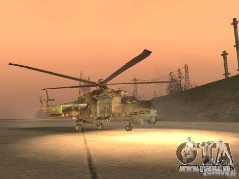 Mi-24p für GTA San Andreas zurück linke Ansicht