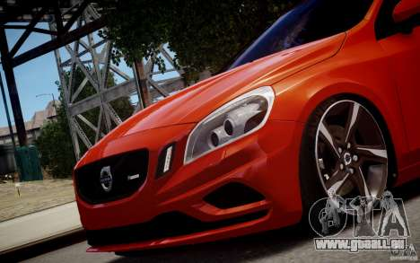 Volvo S60 R-Design 2011 pour GTA 4 Vue arrière de la gauche