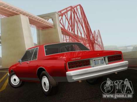 Chevrolet Caprice 1986 pour GTA San Andreas sur la vue arrière gauche
