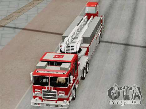 Pierce Arrow XT LAFD Tiller Ladder Truck 10 für GTA San Andreas Motor