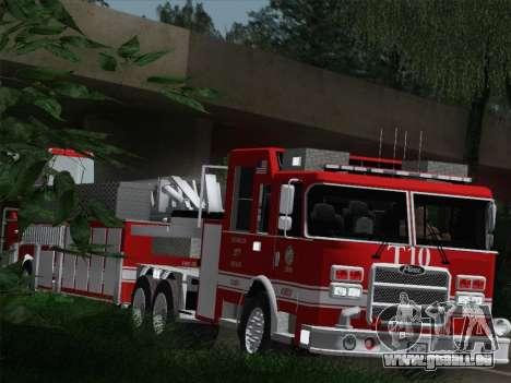 Pierce Arrow XT LAFD Tiller Ladder Truck 10 für GTA San Andreas Seitenansicht