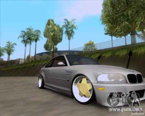 BMW 3-er E46 Dope pour GTA San Andreas vue de droite