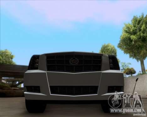 Cadillac Escalade ESV Platinum 2013 pour GTA San Andreas vue intérieure
