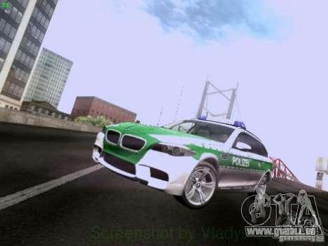 BMW M5 Touring Polizei pour GTA San Andreas laissé vue