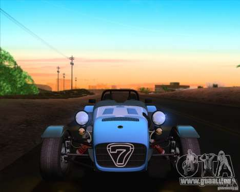 Caterham Superlight R500 pour GTA San Andreas vue de dessous