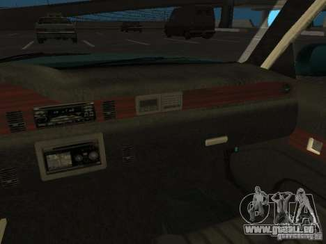 HD Police from GTA 3 für GTA San Andreas obere Ansicht