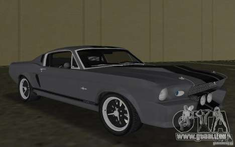 Shelby GT500 Eleanor pour une vue GTA Vice City de la gauche