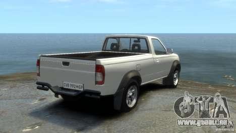 Nissan NP300 pour GTA 4 Vue arrière de la gauche