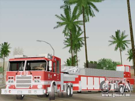 Pierce Arrow XT LAFD Tiller Ladder Truck 10 für GTA San Andreas Innen