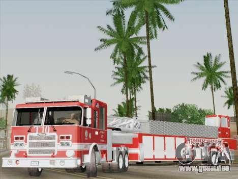 Pierce Arrow XT LAFD Tiller Ladder Truck 10 für GTA San Andreas Innen