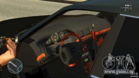 Mercedes-Benz S600 pour GTA 4 est une vue de l'intérieur