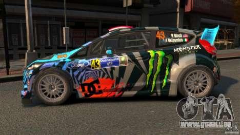 Ford Fiesta Rallycross Ken Block (Hoonigan) 2013 für GTA 4 linke Ansicht