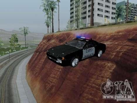 Elegy Police LS pour GTA San Andreas vue intérieure