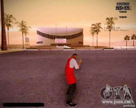 Peau Chicago Bulls pour GTA San Andreas quatrième écran
