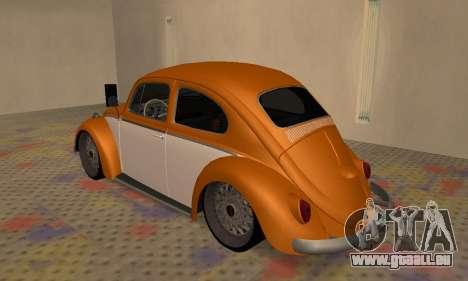 Volkswagen Beetle pour GTA San Andreas vue de droite