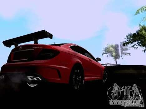Mercedes-Benz C63 AMG 2012 Black Series für GTA San Andreas zurück linke Ansicht