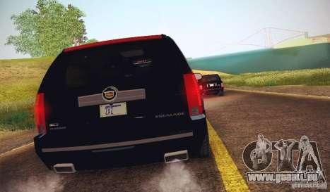 Cadillac Escalade ESV 2012 für GTA San Andreas zurück linke Ansicht