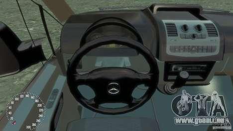 Mercedes-Benz Vito 2013 pour GTA 4 est une vue de l'intérieur